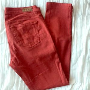 AG jeans skinny ankle  sz 27 burnt red